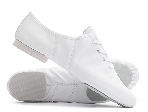 Split Shoes Sole Lace Dancewear Up Dance All Jazz Suede Cerco Modern Katz White Sizes Jive PU Practice By xIq7Xf