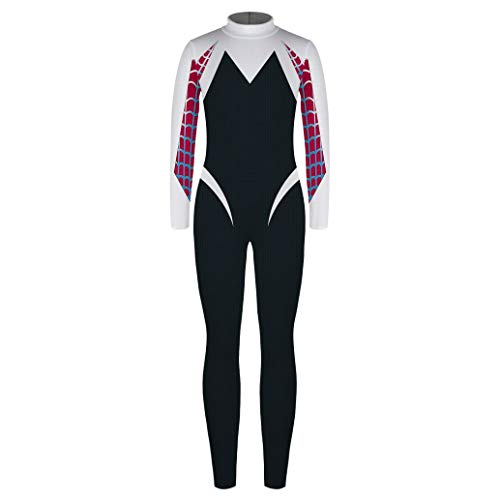 Children's Day Carnival Party Costume Kids Marevl Cosplay Costume Hero Bodysuit Suit Jumpsuits(MD-T209603,M)