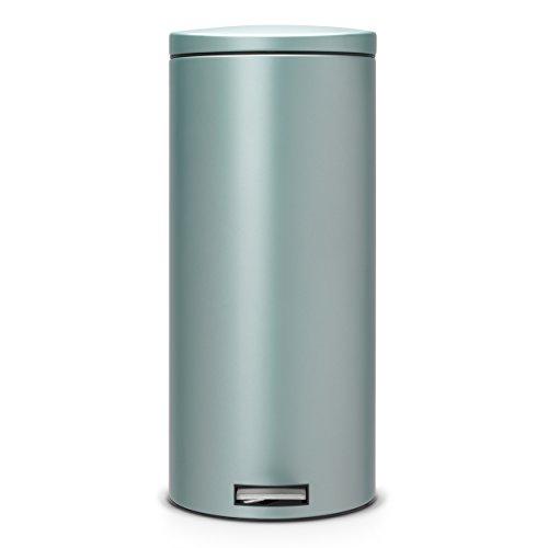 Brabantia Pedal Bin, for Paper, Accessories, Plastics, Metallic Mint, 30l, 484261