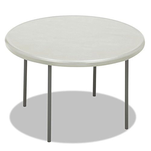 Iceberg IndestrucTable TOO 1200 Series Round Folding Table - Round - 48quot; x 29quot; - Steel, Polyethylene - - Table Leg Empire