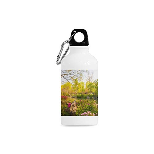 WUwuWU Outdoor Simple Fashion Travel Suzhou Garden Attractions Tour View Print Design Sport Water Bottle Aluminum Stainless Steel Bottle Aluminum Sport Water Bottle