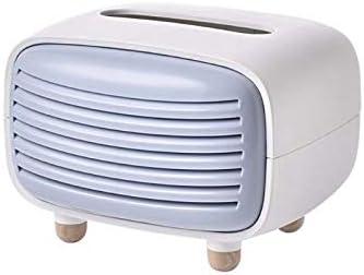 YZY Vintage Radio-Kasten-Abdeckungs-Serviette-Halter-Organisator Papierhandtuchspender Container for Badezimmer Auto-Büro Wohnkultur (Color : Blue)