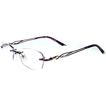 8090b9033b01 Aloha Eyewear Tek Spex 3001 Women's Progressive No-Line Rimless Computer Reading  Glasses with Blue Light Blocking Lens (Purple +2.00)