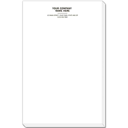 500 Notepads - CheckSimple Personalized Custom Large Notepads/Letterhead (500 Sheets)