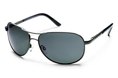- Suncloud Optics Aviator Sunglasses (Gunmetal with Gray Polarized Lens)