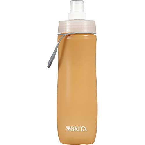 Brita 20 Ounce Sport Water Bottles with Filter - BPA Free - Orange