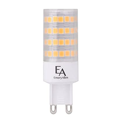 EmeryAllen (Pack of 4) 5.0W Miniature LED Bulb, Dimmable - G9 Base, 120V, CRI>90, 2700K, 545 Lumens, Equivalent to 60W Halogen - - Amazon.com