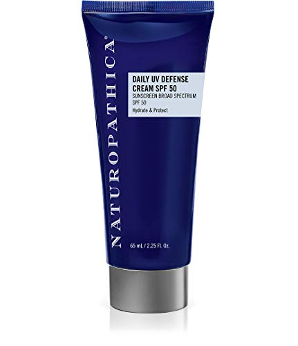 Naturopathica Daily UV Defense Cream SPF 50, 2.25 oz. | Mineral SPF Facial Cream with 19.5% Zinc Oxide | Shields 98% of UV rays ()