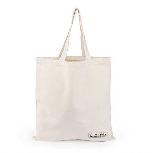 Beige Reusable Canvas Bag, Shopping Tote Bags, ...