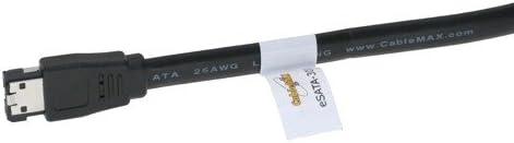 eSATA to eSATA 3GB//s External SATA 2 CableMax 24inch 2ft Shielded External Cable eSATA