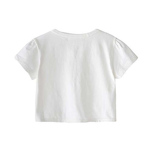 CHENXIN Girls Knit White Short Sleeve Bolero Cardigan Shrug (White1, 150/7-8T) by CHENXIN (Image #1)