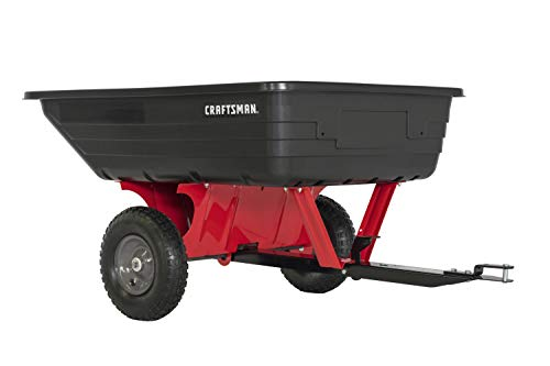 Craftsman CMXGZBF7124489 10-cu ft Poly Dump Cart, Red