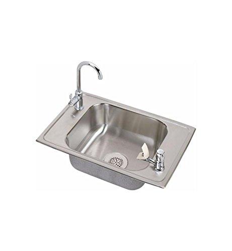 - 20 Gauge Stainless Steel 25' X 17' X 6.875' Single Bowl Top Mount Sink Kit