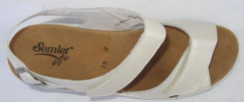 Damen 6 Heidi Leder H556 Wei Semler 100 offwhite Sandale qIwgzA5
