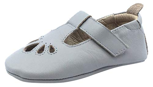 - Old Soles Girls's T-Petal Soft Leather Mary Jane Baby Shoes (20 M EU/4 M US Toddler, Gris)