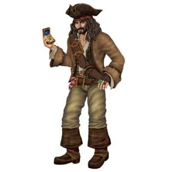 Beistle 50544 Jointed Pirate Captain, 6-Feet (Pirate Decoration)