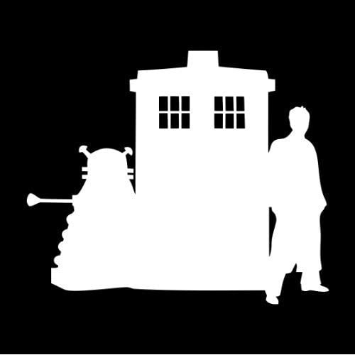 Tardis, Doctor and Dalek Doctor Who Sillouette Car Window Laptop Decal Sticker