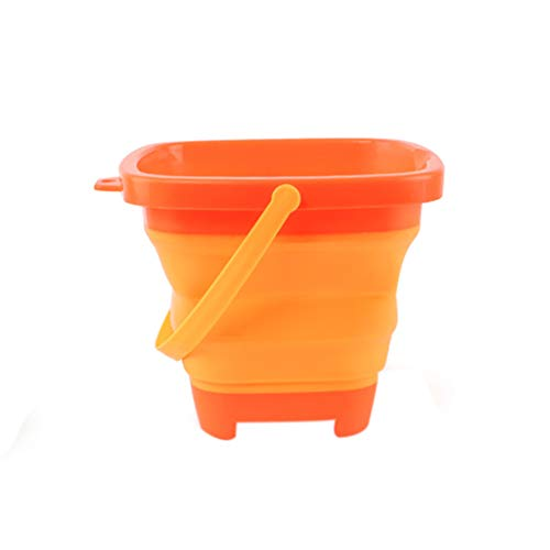 Hemlock Foldable Pail Bucket Beach Buckets Kids Sand Toys 2.5L Beach Pails Buckets for Camping, Fishing, Outdoors, Water ()