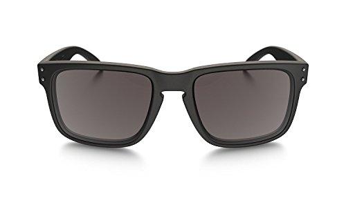 Oakley Holbrook Sunglasses 57MM Matte Black Frame/Warm Grey Lens