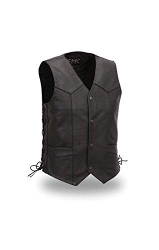 First Manufacturing Men's Slide Lace Classic Vest (Black, Size 42)