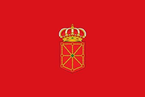 Durabol Bandera de Navarra Comunidades autónomas de España 60 * 90 cm Satin 2 Anillas metálicas fijadas en el Dobladillo: Amazon.es: Jardín