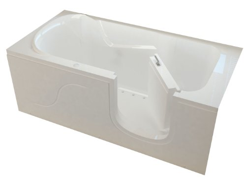 Meditub misi3060rwa step in air jetted bathtub for Best soaker tub for the money