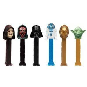Star Wars Clone Wars Pez Dispensers Includes Darth Vader & the Emperor (Pack of 6)
