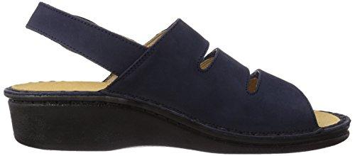 Fischer Damen Pantolette - Sandalias de vestir de cuero para mujer azul - Blau (521 marine)