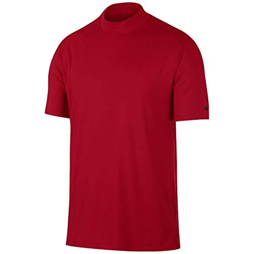 NIKE TW Vapor Dri Fit Mock OLC Golf Polo 2019 Gym Red Large