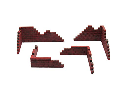 EnderToys Brick Walls, Terrain Scenery for Tabletop 28mm Miniatures Wargame, 3D Printed and Paintable