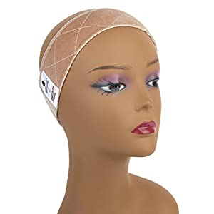 MainBasics Velvet Wig Grip Band Adjustable Wig Comfort Band, Beige