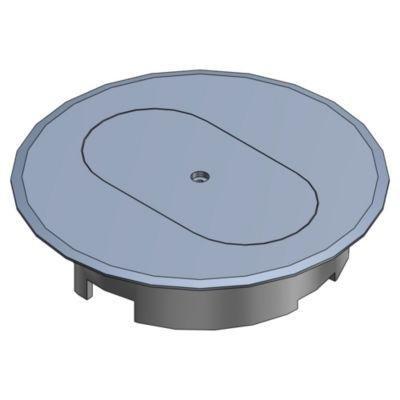 Carlon E97DSS Round Cover, Diameter: 5'', Type: Duplex Receptacle, Non-Metallic