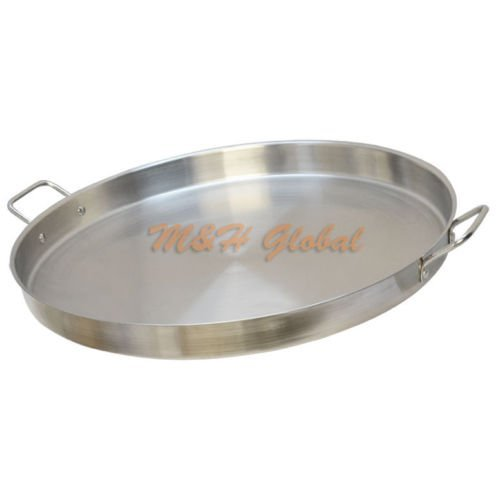 HD 23' Stainless Steel Round Griddle Grill Comal Pozo Plancha Taco Fry Pan Wok Cook