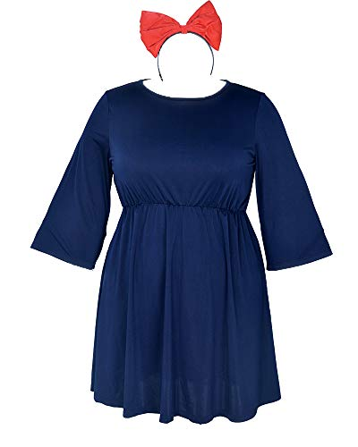 miccostumes Women's Kiki's Cosplay Dress Halloween Costume Plus Size (3X/4X) Dark Blue -
