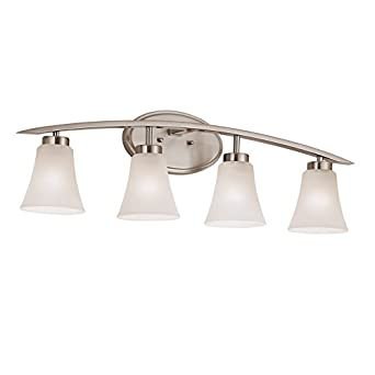 Delicieux Portfolio 4 Light Lyndsay Brushed Nickel Bathroom Vanity Light