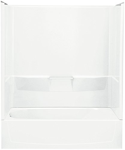 STERLING 71040110-0 Performa Bath and Shower Kit, 60-Inch x 29-Inch x 75.5-Inch, Left-Hand, White