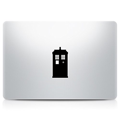 Doctor Who Tardis Vinyl Decal Sticker Air Pro Mac Laptop Size 11