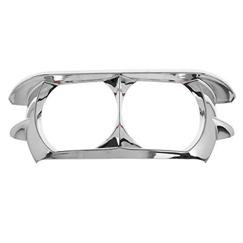 Rebacker Motorcycle Headlamp Headlight Trim Cover Bezel for Harley Road Glide 2015-2019,Chrome