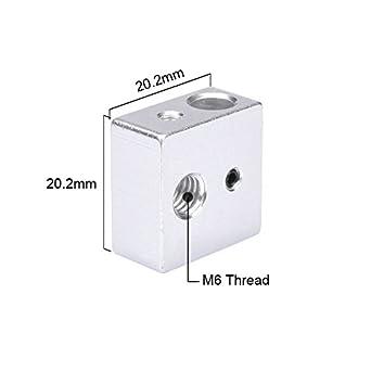 Reprap Makerbot MK7 MK8 bloque de aluminio bloque calentador ...