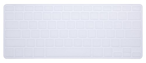 PapyHall Colorful Silicone Protector Keyboard Cover Skin for Macbook Pro 13 inch, 15 inch, Air 13 inch Keypad Dust-proof Membrane - Clear