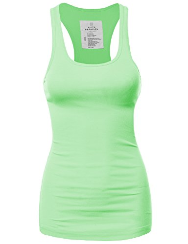 FPT Womens Basic Ribbed Racerback Tank Top (S-3XL) by Fifth Parallel Threads