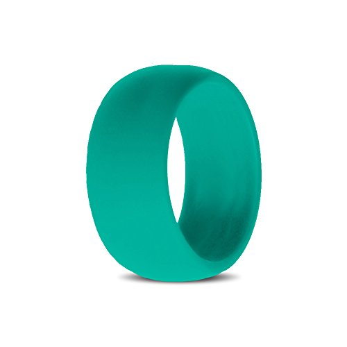 Silicone Wedding Rings for Women, Band – Teal – For Active Lifestyle, Active Women, Athletes Size 6