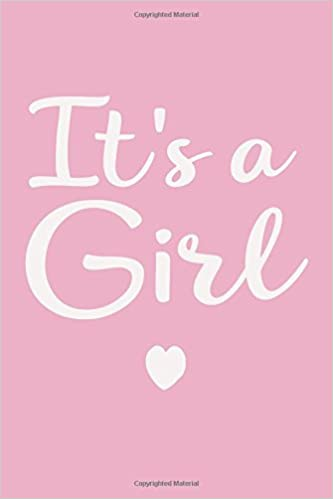 it s a girl pregnancy announcement journal notebook diary 6 x9