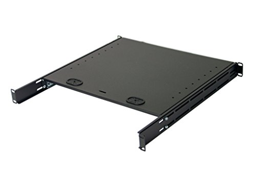 1U Compact rack mount keyboard drawer with retractable mouse pad for right or left hand operator supports 2 post and 4 post rack cabinet by IAENCLOSURES (Image #3)