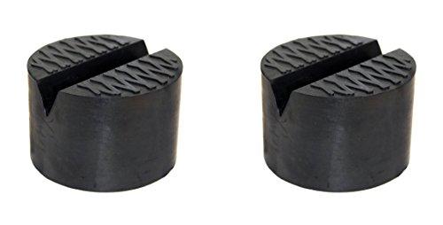 TMB Motorsports 2 Pack V-groove Rubber Universal Floor Jack Pad Adapter (Universal Groove)