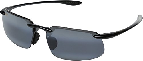 Maui Jim Unisex Kanaha Universal Fit Gloss Black/Neutral Grey - Sunglasses Kanaha