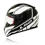 LS2 FF 353 Infinity Black White With Anti Fog Visor Full Face Helmet