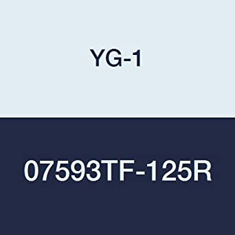YG:Tylon F Finish Regular Length 3 Length 1//2 4 Flute YG-1 07593TF-125R Carbide Corner Radius End Mill