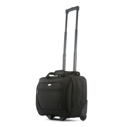 Olympia Luggage Deluxe Rolling Tote, Black, One Size