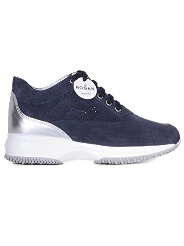 Hogan Women's HXW00N00E30IDZ0PCF Blue Suede Sneakers discount fast delivery zqClYrB